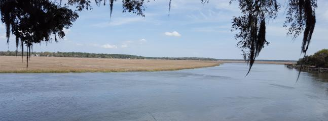 The Sapelo River (Black Beard Creek) Taken from the Front Porch of the Cottage