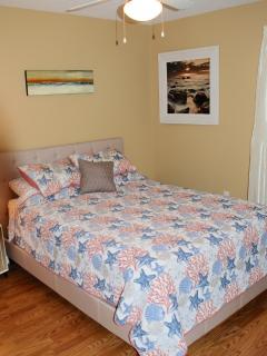 Queen size bed guest room