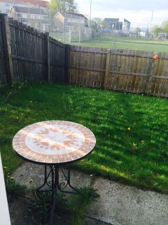Backside private garden