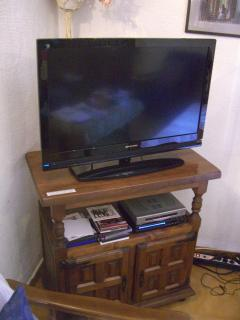 An HD television set replaced the old set