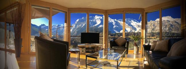 Apartment A  Living Area with Breathtaking Panoramic Views through Floor to Ceiling Windows