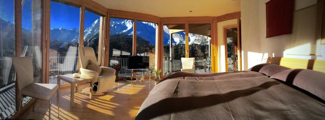 Apartment A  Master Bedroom with Stunning Panoramic Views and Morning Sunshine