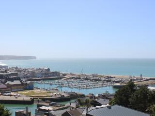 Maison vue panoramique 180° mer et ville, Fecamp