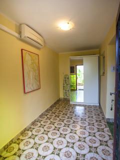 Hallway with plenty of storage space