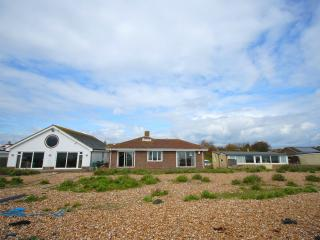 Family home on Pagham Beach.