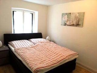 Doppelbett der Ferienwohnung 1