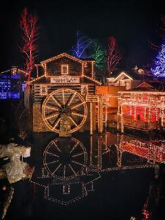 Dollywood at night.  Approximately 5 miles from our condo.