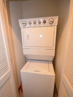 Full size washer and dryers.