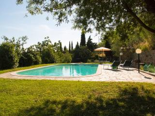 Farmhouse 3 bedrooms, pool, garden, fantastic view, Loro Ciuffenna