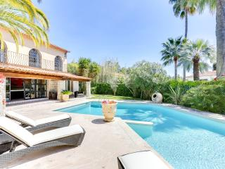 Excellent Palm Spring Villa in Cannes with Fireplace and Terrace