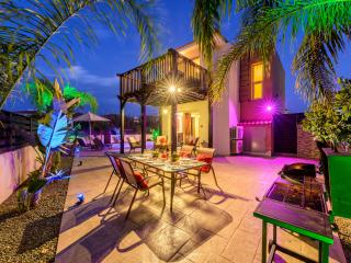 If 2 barbecues, a unique sun deck, and coloured mood lighting is your thing, on the largest plot....