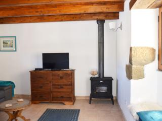 Satellite TV with bbc/itv/channel/4-5 ect(all uk channels) plus euro TV.Wood burner for winter.