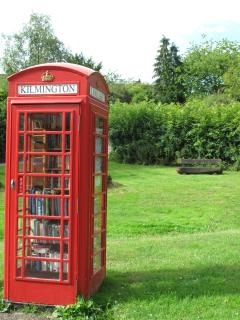 Our village library, you are welcome to borrow a book