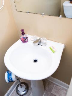 2 piece half bathroom
