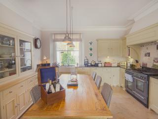 Fully equipped,  high spec kitchen with view onto the garden