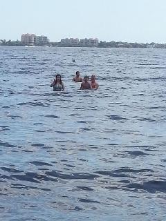 Swimming at Cape Coral Beach