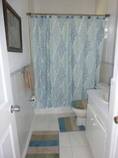 Warm cozy bathroom