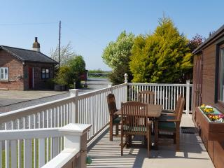 Access to deck from 2 sets of patio doors