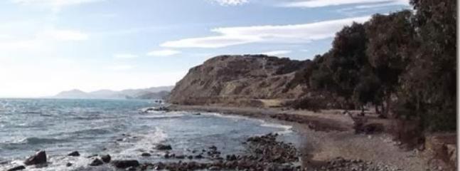 Playa de piedra 'Les puntes del Moro' también a cinco minutos.
