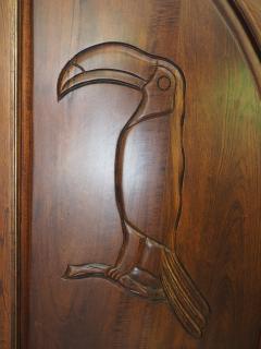 Decorative detail of the kitchen door