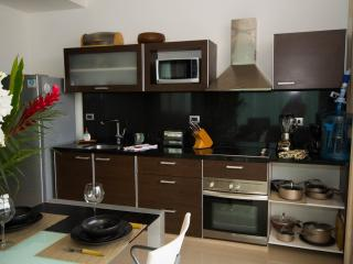 fully equipped open kitchen which has everything you'll need to cook up a great meal