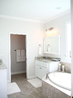 2nd Floor Master Bathroom, off of Master Bedroom. 2 Vanities, Tub, Shower, etc.