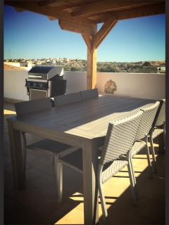 Roof Terrace with BBQ and Dining for six