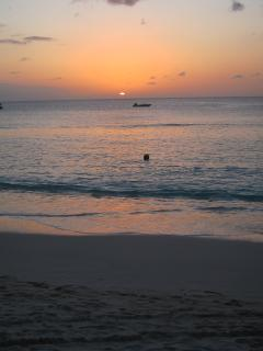 beach at sunset -great time to have a late swim when the breeze drops and the sea's totally tranquil