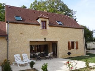 Great out door patio of La Bruyere villa-fully equipped with all that you could need evening BBQs..