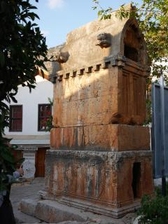 The ancient 'Lion' tomb in Kas