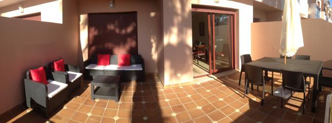 Our terrace- terrific for a summer BBQ or sun bathing!