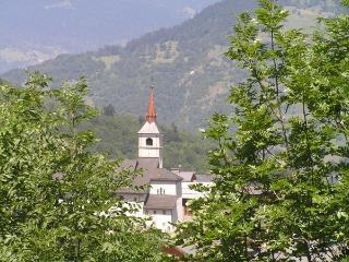 Les Allues setting in the Meribel Valley - summer