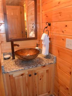 Full Private Bathroom with granite counter tops, adjoining Master Suite!
