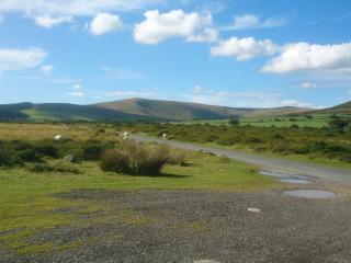 Foel Cwmcerwyn and Foel Feddau viewed from the Waldo Stone (cycle route 47)