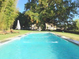 Charme et prestige parc et bassin vue sur Dordogne, Mouleydier