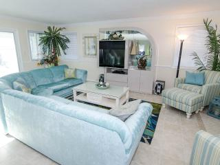 Living area with comfortable seating and a queen size sleeper