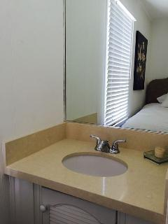 Sink in bedroom
