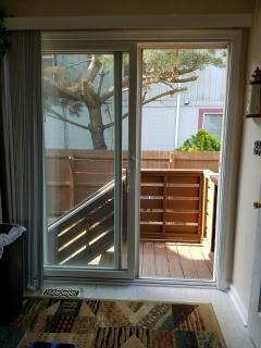 Kitchen slider to back porch