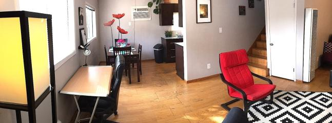 Dining/Living Room from front door, panoramic
