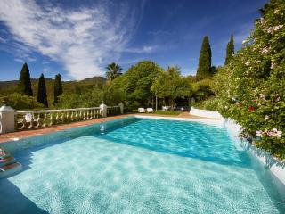 Main house heated pool, pool side fridge & ice-maker. There is also changing rooms & toilets.