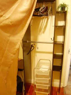 Smaller bedroom closet