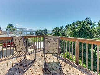 Cozy, dog-friendly home with beach access and bay & ocean views!