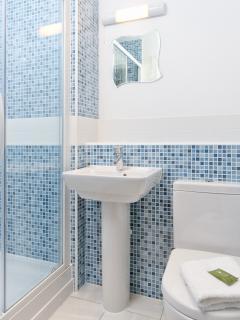 One of the four bathrooms at Cornium