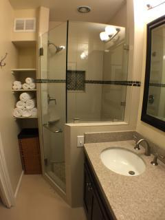 Tiled stall shower