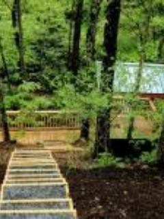 Stairs to private deck and Little Reed Island Creek