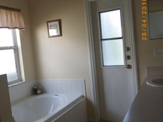 Private bath room, shower, direct acces to the pool...