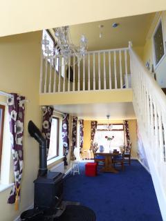 Main living/dinning room with mezzanine