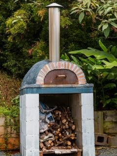 The amazing wood fire pizza oven.