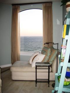 Relax and enjoy a book, listen to music, and take in this view