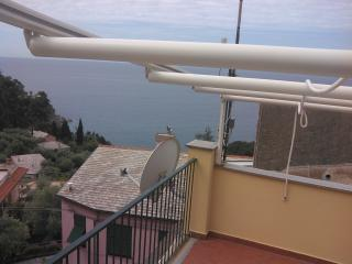 Terrace overlooking the sea near Cinque Terre., Bonassola